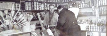 Das Geschäft im Jahre 1953 mit Gründer Dieter Dell